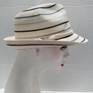 Calvin Klein Straw Fedora Hat